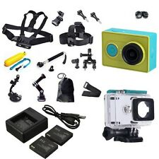 Green Original XiaoMi Yi WIFI Sports Action Cam+Accessories Kit+Charger+Battery