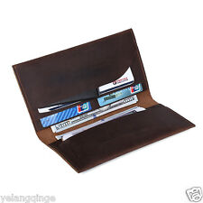 Genuine Leather Passport cash card ticket holder Case Travel Wallet Case long