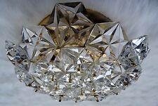 vintage 70s - Hochwertige vergoldete Kinkeldey Deckenlampe Kristallglas Leuchte