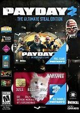 Payday 2: The Ultimate Steal Edition, PC Game, STEAM, New Sealed, Free Shipping!