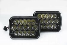"7x6"" LED HID CREE LIGHT BULBS CRYSTAL BLACK SEALED BEAM HEADLAMP HEADLIGHT PAIR"