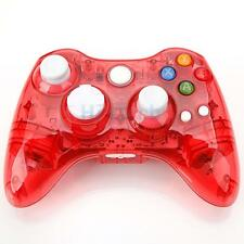 New Glow Wireless Gamepad Remote Controller for Microsoft Xbox 360 Crystal Red