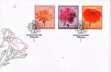 Liechtenstein 2012 FDC Garden Flowers 3v Set Cover Dahlia Peony Zinnia