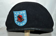DSCP Garrison Collection US Army Black Wool Mens Beret with Crest Pin Sz  6.75