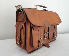 """15x11"""" Vintage Leather Briefcase Macbook Bag Laptop Messenger Bag Attache Satche"""