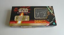 Star Wars Episode 1 Clash of the Lightsabers Card Game and Pewter Figures