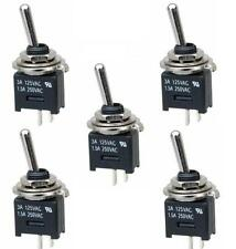 Sub Miniature Toggle Switch SPST 3 Amp On-Off (5 Pack) (SW380a)