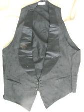 Vintage Antique Edwardian VEST Waistcoat 34 TLC Black Flaws Damask