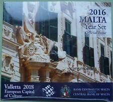 Malta Off. Euro Kursmünzensatz KMS 2016 mit 1 Cent bis 2 Euro Valletta Kultur