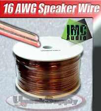 500' Speaker Wire 16 Gauge High Quality Car or Home Audio Clear Guage IMC Audio