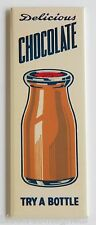Chocolate Milk FRIDGE MAGNET (1.5 x 4.5 inches) soda push sign drink bottle
