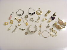 VINTAGE JEWELRY ITEMS REPAIR PARTS LOT EARRINGS COMPONENTS BELLYDANCE ATS 46999