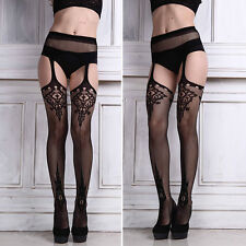 Sexy Lady Fishnet Stocking Garter Belt Suspender Lace Women Tights Pantyhose