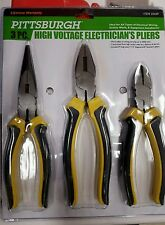 Pittsburgh Electrical Set of 3 Pliers