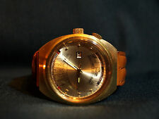 VINTAGE WITTNAUER 2000 MECHANICAL GOLDTONE PERPETUAL CALENDAR WATCH 3002