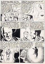 TROMPETTE MAGIQUE  PLANCHE DE MONTAGE AVENTURES FICTION ARTIMA 1959 PAGE FIN