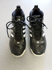 "Adidas ""Infantry Bounce"" black gloss leather basketball shoes.  Men's 13"
