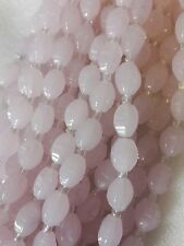 1 String Crystal Glass Faceted Beads Fine Cut In Pink Colour 12 x 8mm 20 Beads