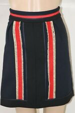 NWT Boden ICONS The Brigadier Skirt Navy Blue Red Gold Women's  sz US 2 XS 0