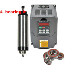 4 BEARINGS WATER-COOLED DIA 100MM SPINDLE MOTOR 3KW & VFD INVERTER DRIVE WITH CE