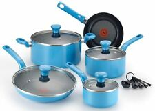 Cooking Set Pots and Pans Nonstick T fal Cookware Set Blue Dishwasher Oven Safe
