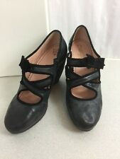 Anthropologie Miss Albright Black Wedge Heel W/ Bow Size 10 Fast Ship