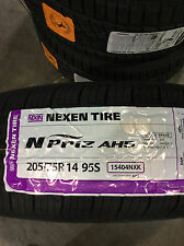 4 New 205 75 14 Nexen N'Priz AH5 White Wall Tires