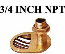 Groco #Sth750w - Thru-Hull Fitting - Scoop W/ Nut - Bronze - 3/4 in