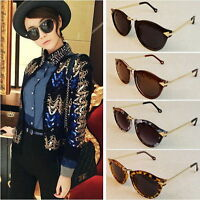 UK Vintage Retro Women's Unisex Sunglasses Style Metal Frame Round 4 Colors FT