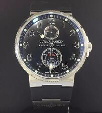 Ulysse Nardin Maxi Marine Chronometer Steel 41mm Rubber Strap Automatic 263-66