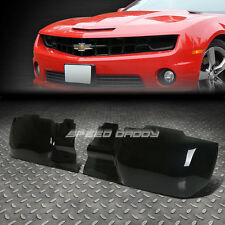 2PC SMOKED TINTED ABS GT STYLE HEADLIGHT/LAMP COVER FOR 10-13 CHEVY CAMARO LT/SS