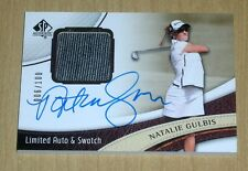 2014 SP Authentic Golf on-card Limited Auto autograph swatch Natalie Gulbis /100