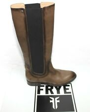 Womens Frye 76898 Lindsay Gore Tall Fawn Brown Leather Boots Sz 9m NIB $398