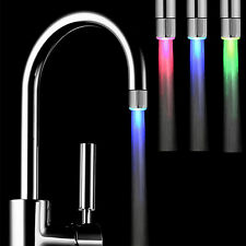 Amazing LED Faucet Temperature Sensor Water Stream Tap 3 Color No Need Power
