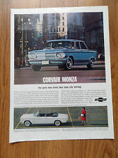 1963 Chevrolet Corvair Monza Sedan & Convertible Ad