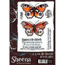 A Little Bit Sketchy BUTTERFLY EFFECT Rubber Stamp Sheet By Sheena Douglass