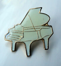 White Grand Piano Pin Badge