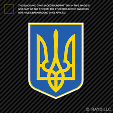 Ukrainian Coat of Arms Sticker Decal Self Adhesive Vinyl Ukraine flag UKR UA
