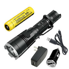 Bundle: Nitecore MH27 Rechargeable XP-L HI V3 Flashlight w/NL189 & USB Adaptors