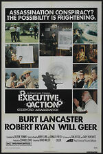 JOHN F. KENNEDY/JFK ASSASSINATION Original 1976 movie poster EXECUTIVE ACTION