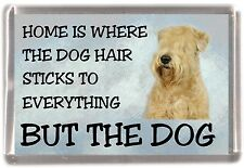 "Soft Coated Wheaten Terrier Dog Fridge Magnet ""Home is Where""  by Starprint"