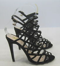 "blacks  5""Stiletto high heel open toe ankle strap  sexy shoes SIZE 8"