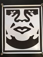 SHEPARD FAIREY Obey Giant Face 3 SIGNED RARE art large print hand signed