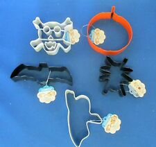 BAT GHOST PUMPKIN SPIDER SKULL BONES HALLOWEEN BISCUIT PASTRY COOKIE CUTTER SET
