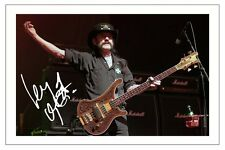 LEMMY KILMISTER SIGNED PHOTO PRINT AUTOGRAPH MOTORHEAD