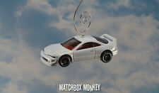 White 2001 Acura Integra GSR Custom Christmas Ornament 1/64 Adorno RSX MDX Honda