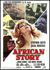 AFRICAN STORY MANIFESTO CINEMA SYLVA KOSCINA STEPHEN BOYD 1971 MOVIE POSTER 2F