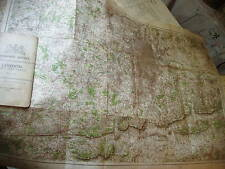 LONDON 1903-06:RARE ANTIQUE ORDNANCE MAP:RELIEF SHADED ROADS+SOUTHEAST LANDSCAPE