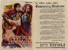 Año 1947. Programa de CINE. Título película: Genoveva de Brabante.