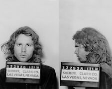 1968 JIM MORRISON Mugshot Glossy 8x10 Photo The Doors Singer Print Poster